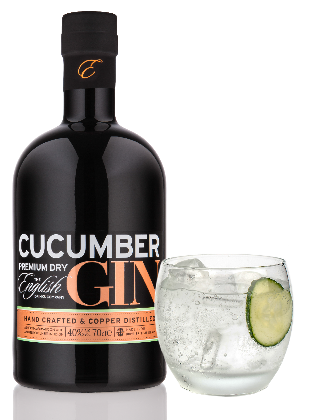 Cucumber gin by the english drinks company gin specialists for Best mixers for gin